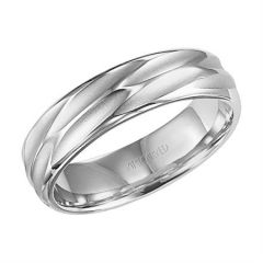 18K White Gold Comfort Fit Engraved Band for Him 11-WV7410W