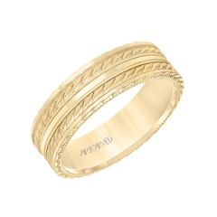 11-WV8639Y65 Yellow Gold Ladies Wedding Band