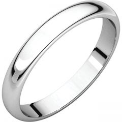 3mm 14K White Gold Die Struck Wedding Band GNG-3mmWB