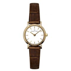 14K Gold and Leather 3 ATM Jacques Michel Watch Style# JM-12008