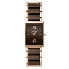 Rose Gold PVD Plated Stainless Steel and Ceramic 3 ATM Jacques Michel Watch Style# JM-12090
