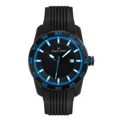 Stainless Steel Luminous Dial and Hands and 10 year Lithium Battery 10 ATM Jacques Michel Watch Style# JM-12154