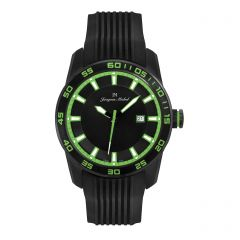Stainless Steel Luminous Dial and Hands and 10 year Lithium Battery 10 ATM Jacques Michel Watch Style# JM-12155