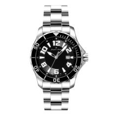 Stainless Steel and Ceramic Luminous Dial and Hands  20 ATM Jacques Michel Divers Watch Style# JM-12162