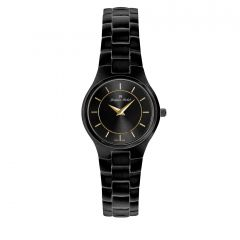 Black IP Plated Stainless Steel 3 ATM Watch by Jacques Michel Style# JM-12184