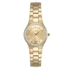 Stainless Steel Watch for Her with Genuine Diamond Crown by Jacques Michel Style# JM-12195