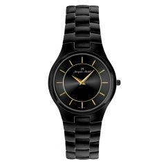Black IP Plated 3 ATM Watch by Jacques Michel Style# JM-12208