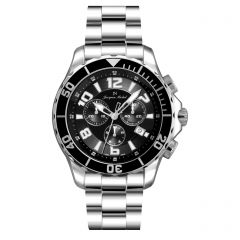 Stainless Steel and Ceramic Swiss Chronograph Luminous Dial and Hands  20ATM Diver's Watch by Jacques Michel Style# JM-12230