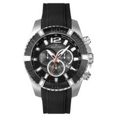 Stainless Steel Swiss Chronograph Carbon Fiber Dial and Luminous Dial and Hands  10 ATM Diver's Watch by Jacques Michel Style# JM-12242