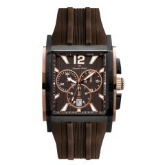IPB Plated Stainless Steel Swiss Chronograph Luminous Dial and Hands  10 ATM Watch by Jacques Michel Style# JM-12245