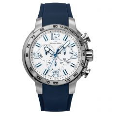 Stainless Steel and Rubber Swiss Chronograph Luminous Dial and Hands  10 ATM Watch by Jacques Michel Style# JM-12247