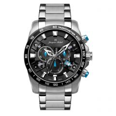 Stainless Steel Swiss Chronograph Luminous Dial and Hands  10 ATM Watch by Jacques Michel Style# JM-12249