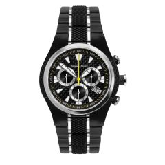 Stainless Steel Swiss Chronograph Carbon Fiber Dial and Luminous Dial and Hands 20 ATM Diver's Watch by Jacques Michel Style# JM-12251