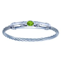 BG2897MXJPE 925 and SS Peridot Bangle from Gabriel and Co.