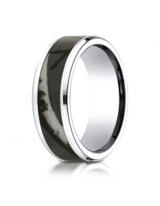Cobaltchrome™ 8mm Comfort Fit Ring with Hunting Camo Inlay from Benchmark  CF68777CC