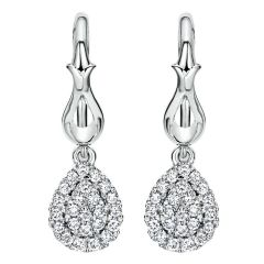 EG11767W44JJ 14K White Gold and Diamond Drop Earrings from Gabriel & Co