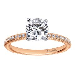 ER4181T44JJ 14k Pink Gold ( Rose Gold ) Contemporary Straight Engagement Ring from Gabriel and Co