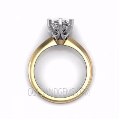 Platinum Crown and Gold TIFFANI Diamond Engagement Ring