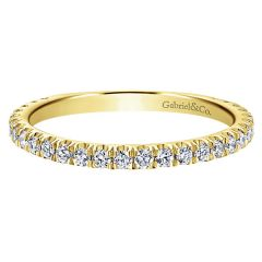 LR50992Y45JJ Gabriel And Company 14K Yellow Gold Stackable Ring
