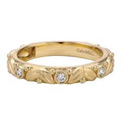LR5398Y44JJ 14K Yellow Gold and Diamond Stackable Ladies' Ring from Gabriel and Co
