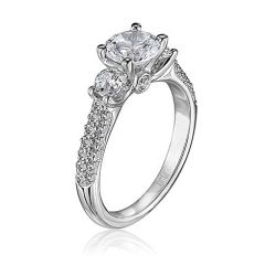 19K Gold with Diamond Accented Ring M1165RD20-MM