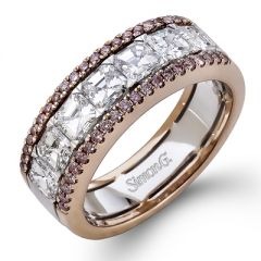 MR2339 Platinum and 18K Rose Gold and Diamond Band from Simon G