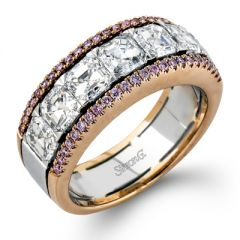 MR2340 Platinum and 18K Rose Gold and Diamond Band from Simon G