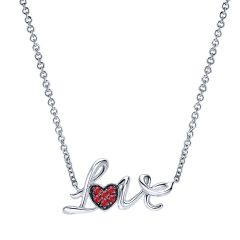 925 Silver And Ruby Fashion Necklace NK4079SVJRA