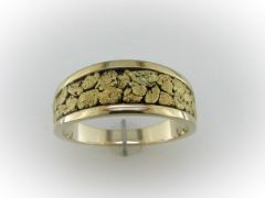 Gold Nugget Tapered Band #ACA-454-026