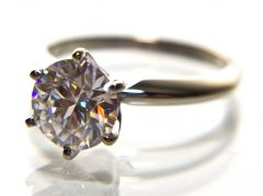 Tiffany Style Solitaire Engagement Ring (Diamond Optional)