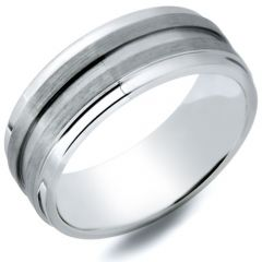 Ovidious 7.3mm Mens Cobalt Chrome Wedding Ring