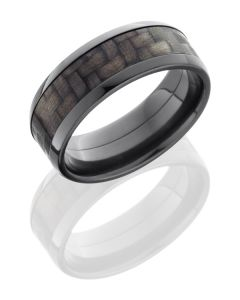 Black Zirconium with Carbon Fiber Inlay and Polished Finish